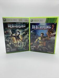 Dead Rising Lot Microsoft Xbox 360 1 and 2 Good Condition Manual Included