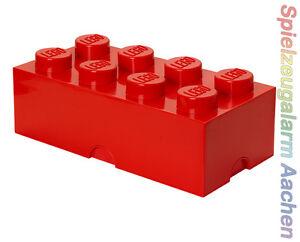 LEGO storage Brick 8 red rouge pierre 2x4 de rangement boîte xxl box CAISSE BOITE  </span>