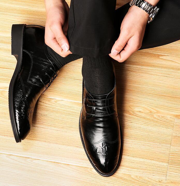 Británica para Hombre Punta Puntera en Punta Hombre con Cordones Retro Vestido Formal Negocios Zapato Mocasín Boda db7735