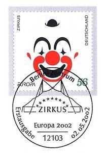 Rfa 2002: L'europe Marque! Cirque Nº 2252 Avec De Berlin Ersttags Cachet! 1 A! 1904-l! 1a! 1904afficher Le Titre D'origine