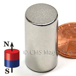 "N50 Neodymium Magnet Dia 1/2x1"" NdFeB Rare Earth Magnets 10-Count"