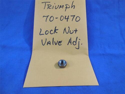 Triumph 70-0470 NOS Valve Lock Nut Adjuster  NP64