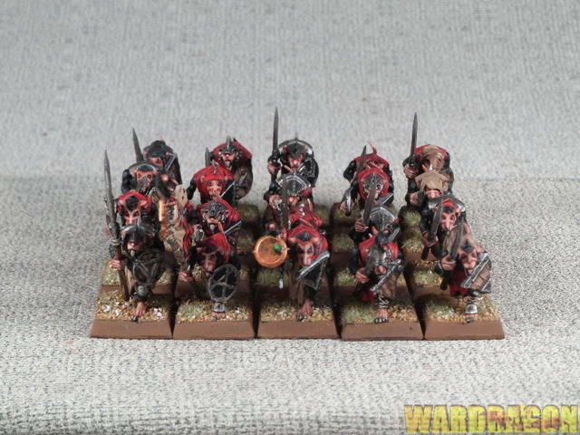 25mm Warhammer WDS painted Skaven Clanrats m26