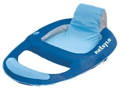 Kelsyus Inflatable Floating Adult Size Pool Beach Lake Lounger Water Raft