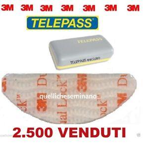 adesivo telepass auto  3M ADESIVO-ADESIVI TELEPASS DUAL LOCK BIADESIVO per parabrezza auto ...