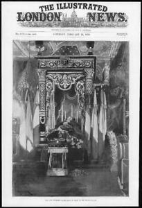 1899-Antique-Print-FRANCE-Elysee-Palace-President-Faure-Lying-In-State-403