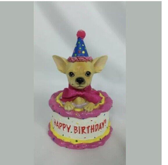 Wondrous Aye Chihuahua Birthday Cake No 13326 Westland Giftware Figurine Funny Birthday Cards Online Unhofree Goldxyz