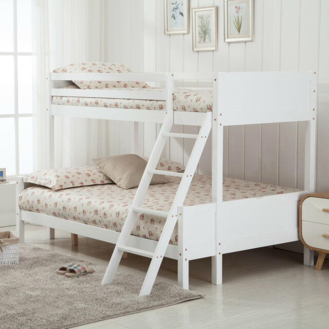 3ft Single 4ft Small Double Triple Pinewood Bunk Bed Frame Bedroom
