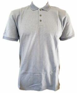 Men-039-s-Nuevo-Ex-tienda-De-Algodon-Mercerizado-Camisa-Polo-Talla-Grande-42-034-azul-claro