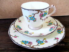 Vintage / Art Deco China Tea Set Trio.Tuscan.3665.British