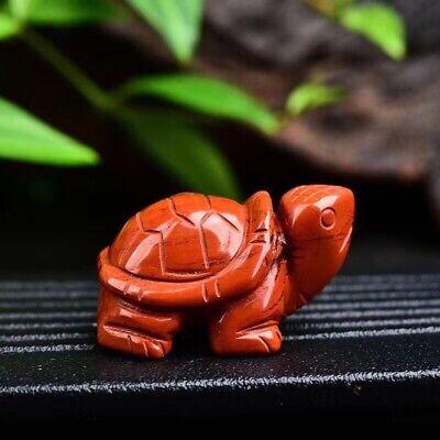Natural Rhyolite stone hand carved mini tortoise quartz crystal healing 1pc