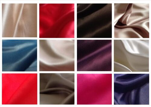 "Superior quality Dull Duchess satin fabric for prom bridal £7.95//m 1.48cm//58"" w"