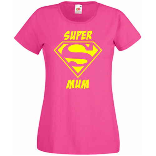 Super Mum Ladies Women/'s T shirt Tee Perfect Mothers Day Gift FREE POSTAGE UK