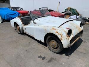 1959 Triumph TR3 1959 TRIUMPH TR3A. OLDE ENGLISH WHITE