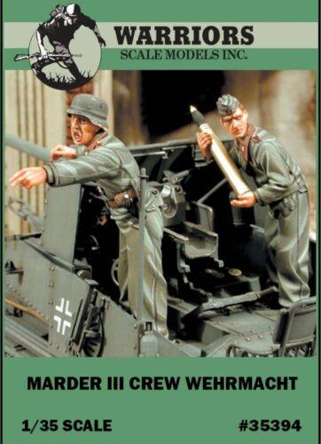 2 Resin Figures Kit #35394 Warriors 1:35 Marder III Crew Wehrmacht