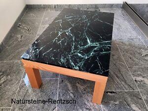 Marmortisch Couchtisch Loungetisch Natursteinplatte Grun Schwarz