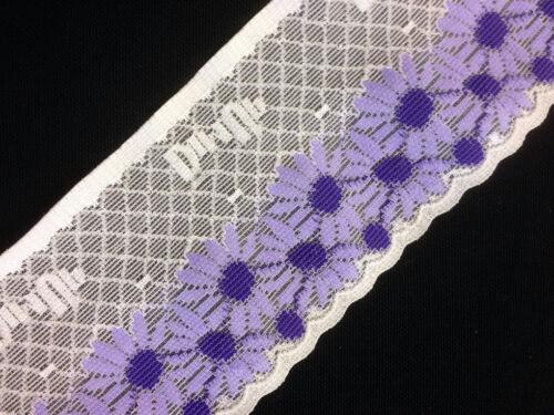 5 métres  dentelle DimUp  polyester anti gliss   8cm Blanc Créme lot 112