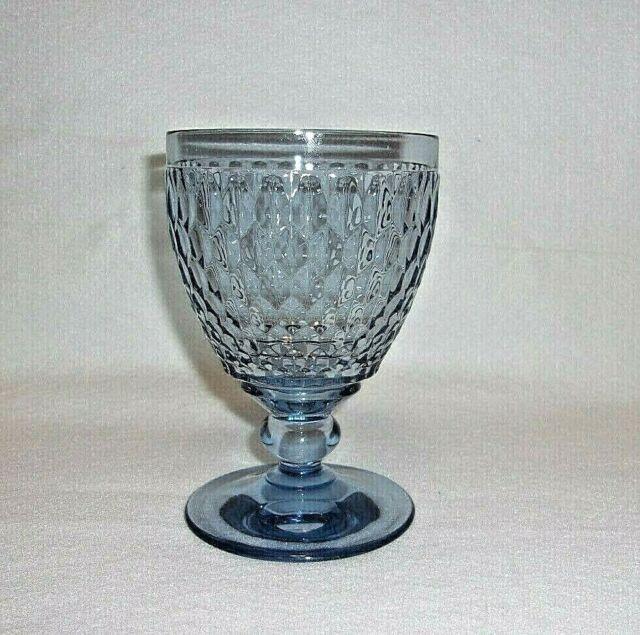 "Boston Water Glass Villeroy Boch: Villeroy & Boch Boston Pattern 5-1/2"" Tall Blue Crystal"
