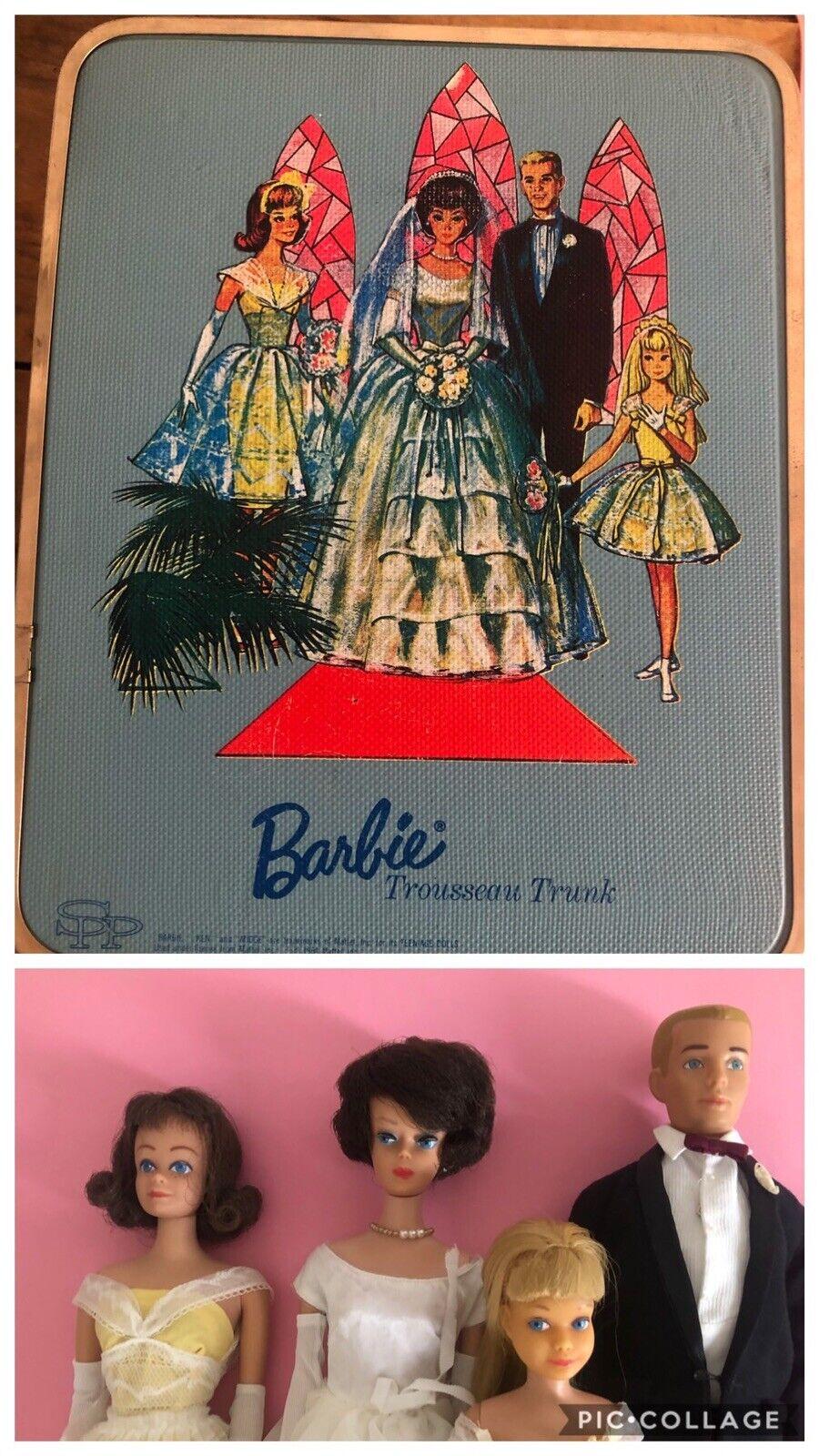 Vintage Barbie Wedding Set  + Travel cases 1964