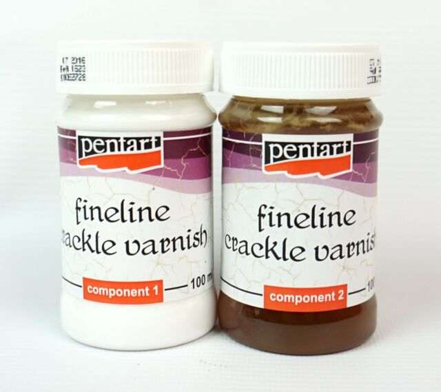 Pentart Crackle Medium Fineline for small cracks Two-Components 2x100ml Set