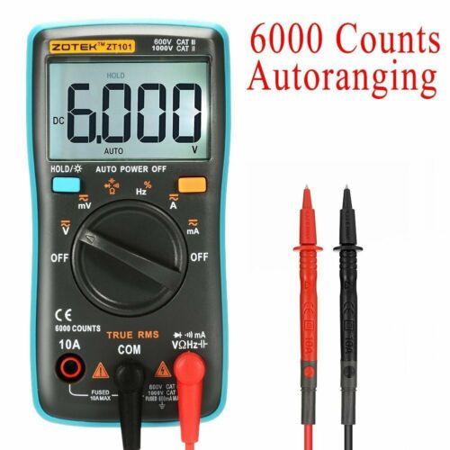 Digital LCD Backlight AC//DC Measuring Tester 6000 Counts Auto Range Multimeter
