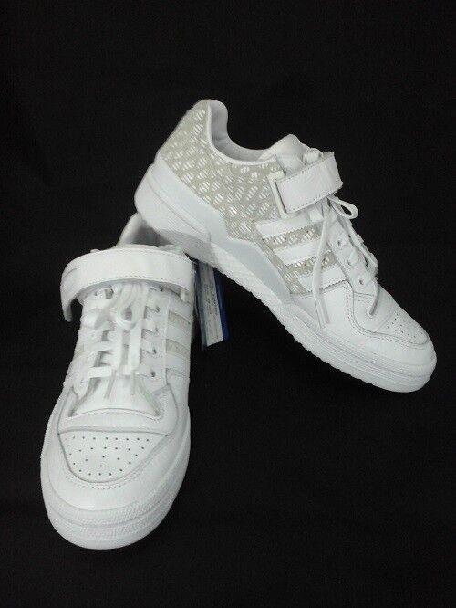 ADIDAS Forum Lo Schuhe Sneakers Weißes Leder Damen BY9348 US 7.5 EU 39 1/3