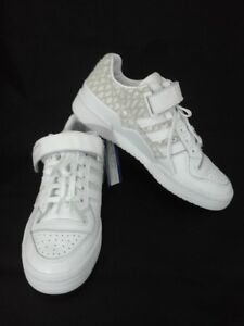 93fc7ac3 ADIDAS Forum Lo Shoes Sneakers White Leather Womens BY9348 US 7.5 EU ...