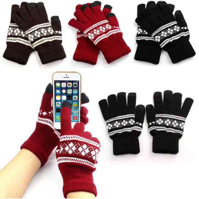 Women Girl Knitted Arm Fingerless Warm Winter Gloves Soft Warm Mitten Gloves