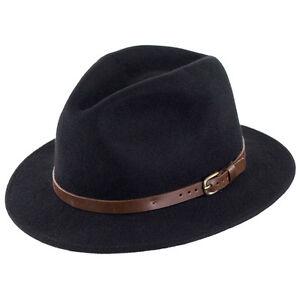 Failsworth-Chapeaux-aventurier-froissable-Fedora-Noir
