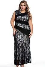 New black lace  Evening mermaid Maxi Dress Size 16-18-20 available