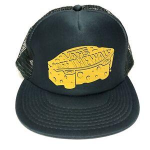 Vans-Off-The-Wall-Trucker-Muetze-Snapback-Cap-Gruen-VANS-Schuhe-Skate-Kaese-Logo