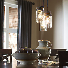 Pendant Light (3 Lamps) Vintage Ceiling Fixture Chandelier Kitchen Dining Room