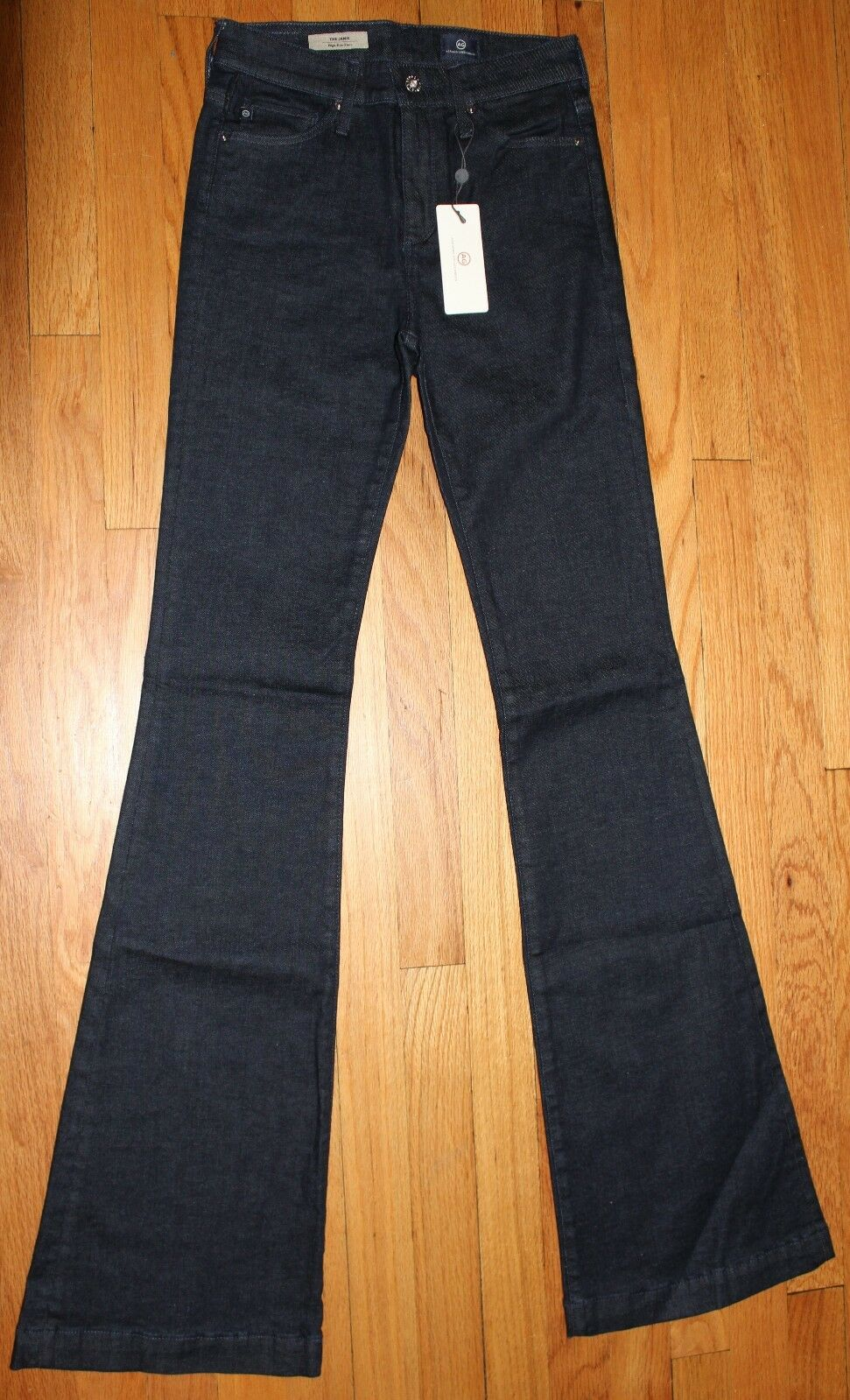 198 AG ADRIANO goldSCHMIED THE JANIS HIGH RISE FLARE JEANS SZ 25