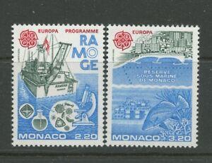 Sea Research Ship Nature Reserve Fish 2 mnh stamps 1986 Monaco #1530-1