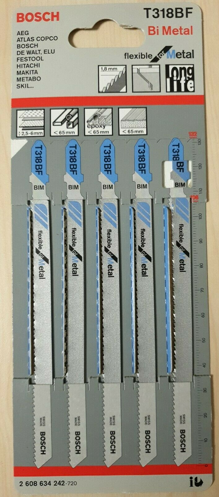 Bosch Stichsägeblätter 10 Stück basic for Metal T 318 A HSS Stichsägeblatt
