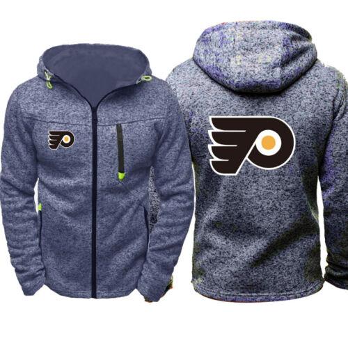 Hot Philadelphia Flyers Sweat à Capuche pour Femme Homme Fleece Sweatshirt Veste Manteau Zippé