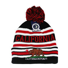 7f8fbe6571e California Republic Bear Cali Cuffed Beanie Pom Skull Cap Knit Winter Hat