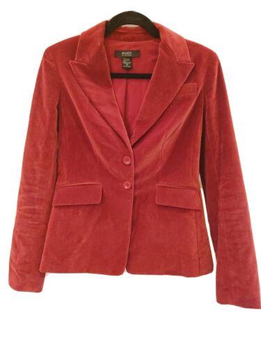 Body By Victoria Size 4 Burgundy Red Velvet Blazer - image 1
