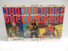 Judge Dredd Megazine Fleetway Comic Books 1-3 Garth Ennis Alan Grant Wagner