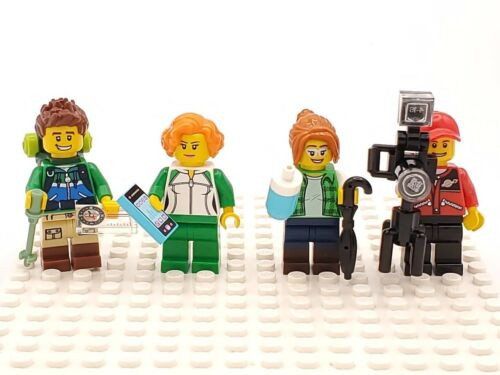 CF52 Lego Minifigs City People Set of 4 Outdoors Adventure Hiker Photographer