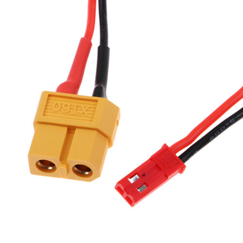 2pcs RC XT60 to JST Plug Male//Female Soft Silicone Cable Charge Wire 22AWG