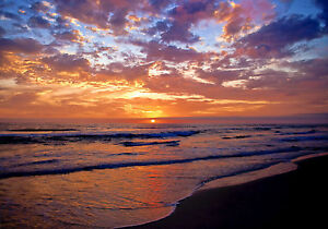 Australia sunset beach ocean art seascape print photo sea 700mm x 500mm