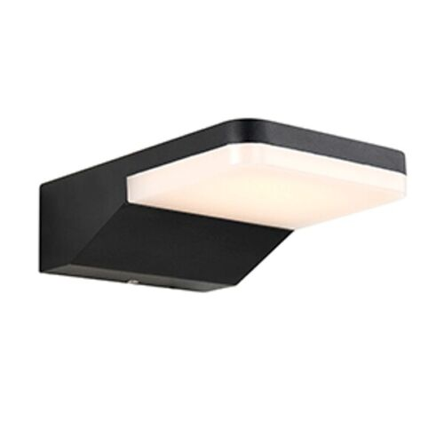 Saxby Reon IP44 8W Cool White LED Outdoor Wall Light Dark Matt Anthracite