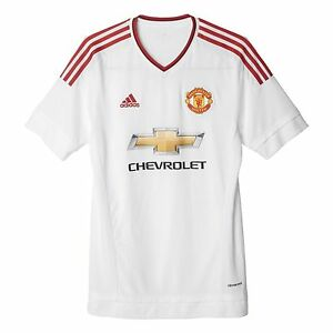 adidas Men s Manchester United 15 16 Away Jersey White AI6363 M L XL ... 66ab375e2