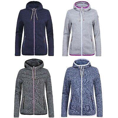 Icepeak Damen Fleecejacke Frauen Strick Fleece Strickjacke Strickfleece Jacke | eBay