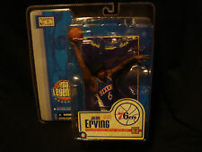 JULIUS ERVING DR. J NBA LEGENDS MCFARLANE SERIES 76ers BASKETBALL jersey classic