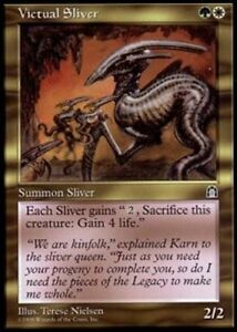 2x-VICTUAL-SLIVER-Rare-Stronghold-MTG-NM-Magic-the-Gathering
