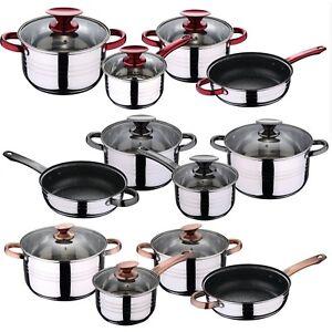 7-Pcs-Induction-Hob-Stainless-Steel-Saucepan-Casserole-Pot-Cookware-Dining-Set