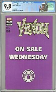 Venom #26 CGC 9.8 Wednesday Edition 1st Appearance Virus Purple Cover Variant