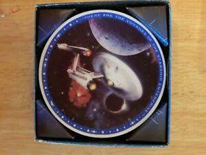 Enesco-Star-Trek-The-Next-Generation-USS-Enterprise-Ship-Collectors-Mini-Plate